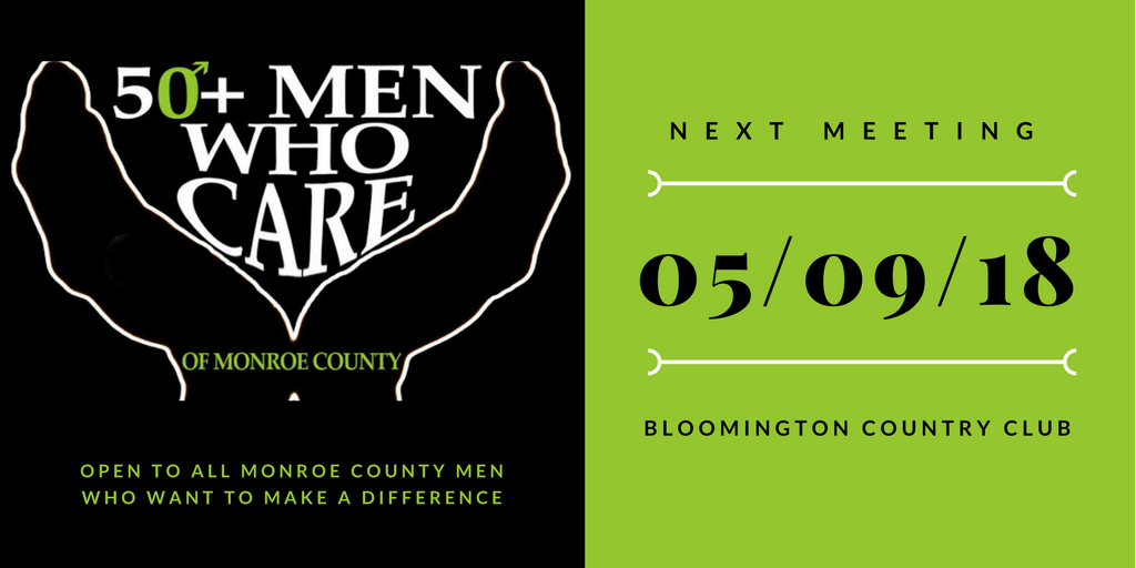 50+ Men Who Care - Next Meeting 5/9/18